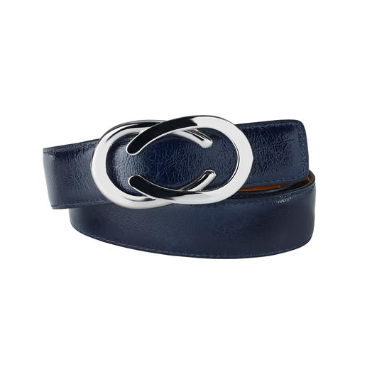 Nubuck-kreuklakleer: trendy, chic en robuust. Nubuck-kreuklakleer: trendy, chic en robuust. Veelzijdige keerbare riem van Belts.