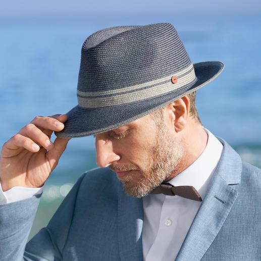 Mayser uniseks fedora Direct uit de koffer op uw hoofd te zetten: vederlichte, kreukbare zomerfedora voor mannen en vrouwen.