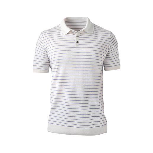 Poloshirt van Tencel® en linnen Koeler en nonchalanter dan pure Tencel®: Tencel® met linnen en katoen. Minder glans, meer structuur.