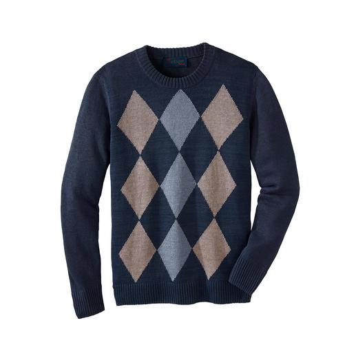 Geruite linnen trui De klassieke geruite trui – nu eindelijk ook voor in de zomer. Luchtig, comfortabel, kreukarm.