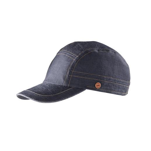 Mayser baseballcap in denim-look Net zo modieus als andere caps van denim, maar veel lichter en luchtiger. Van Mayser.