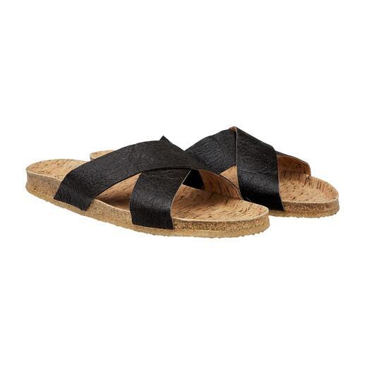 Vegan sandalen Vegan sandalen met comfortabel voetbed van kurk en flexibele antislipzool van natuurrubber.