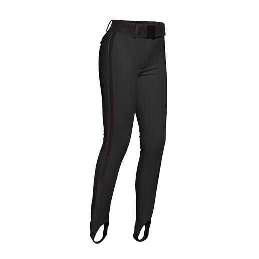Goldbergh softshell-broek met voetbandjes Unieke smalle skibroek met voetbandjes, van softshell.