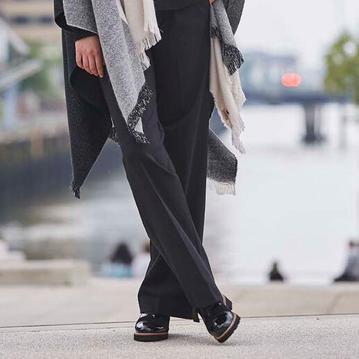 TWINSET Punto Milano wide leg pants Modieus wide leg-model. Trendy men's style. Chique Punto Milano-jersey. Van TWINSET.