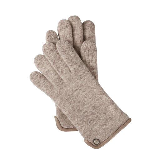 Roeckl dameshandschoenen van walkstof Veel zachter (en weerbestendiger) dan gebruikelijke wollen handschoenen – dankzij de fijne walkstof.