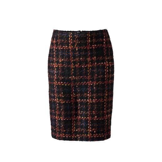 Geruite bouclérok met bandjes Klassieke geruite rok in een nieuwe look dankzij de boucléstructuur. Exclusief bij Fashion Classics.