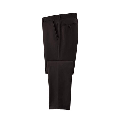 Carl Gross Super120 flanellen broek of colbert Chiquer en lichter dan vele vaak rustieke, zware flanellen pakken – maar net zo warm.