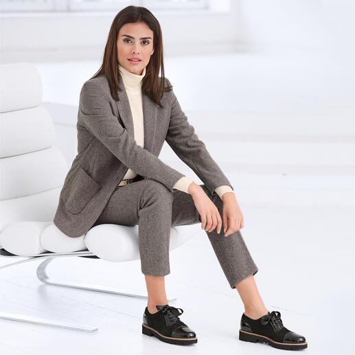 Seventy mini pied-de-poulemotief broek of blazer Nieuwe kleuren, een stoer model en een kwaliteit van zachte jersey.