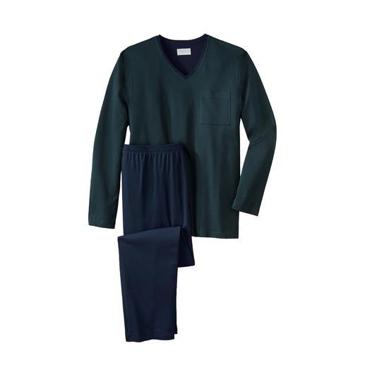 Novila gentleman-pyjama, mini diamant Heerlijk zacht shirt + een broek van gedraaide en gemerceriseerde katoenen jersey. Van Novila.
