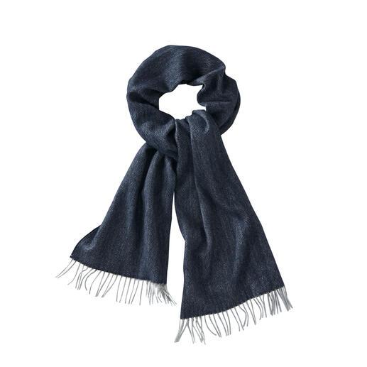 Basic kasjmiersjaal Alleen het luxueuze Mongoolse kasjmier is fijn genoeg voor deze eenvoudige basic sjaal.