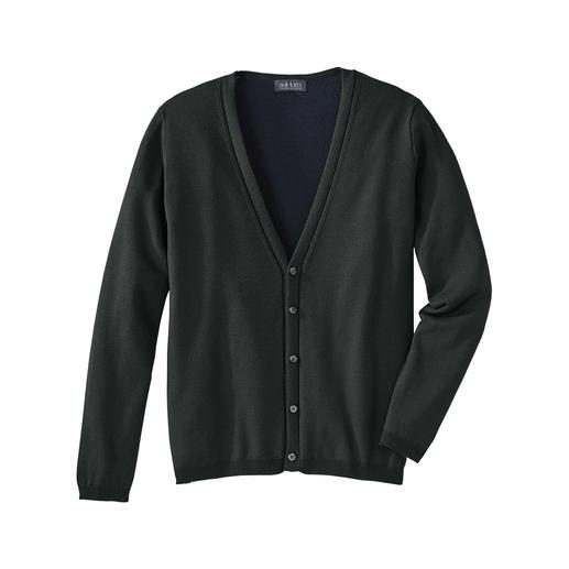 Seldom doubleface-vest Dit unieke vest combineert het beste van twee werelden. Van breimodespecialist Seldom.