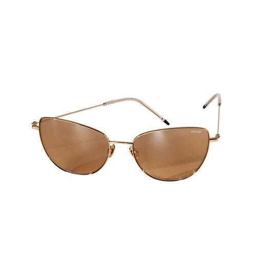 JOOP! cat-eye-zonnebril in goudkleur Trendy model in cat-eye-look. Van JOOP! Zonnebril in goudkleur – voor een heel aantrekkelijke prijs.
