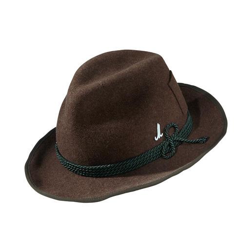 Mühlbauer Traveller-hoed van vilt Elegante, veelzijdige hoed voor elke dag: licht wolvilt. Brede rand. Traveller-model. Van Mühlbauer.