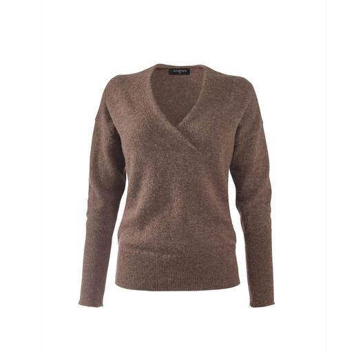 Junghans1954 basic trui van alpaca De ingrediënten voor de betere basic trui: met de hand geselecteerd baby-alpaca. Modieuze details.
