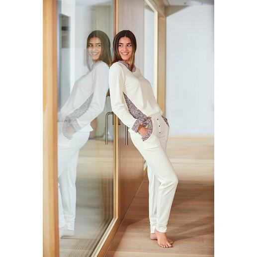 HFor sweatshirt of -broek, ivoor/lichtpink Heerlijk comfortabel. Trendy model waarmee u ook buiten gezien mag worden. Voor een aantrekkelijke prijs.