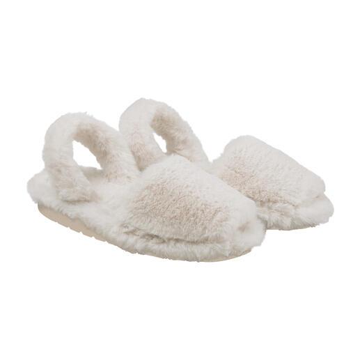 Avarcas pluchen pantoffels Heerlijk zacht, zeer modieus en handgemaakt op Menorca volgens een oude traditie. Van RIA.