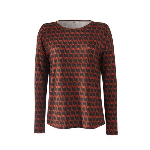Jersey-panel-rok of -shirt Modieuze print. Elegante en soepelvallende kwaliteit. Strijkvrij en comfortabel als een T-shirt.