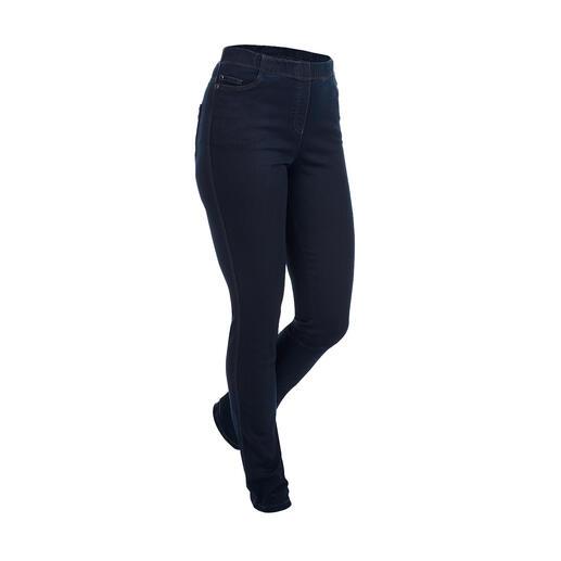 Blue denim jeggings Jeggings: het comfort van een legging. Aanblik van schitterende jeans.