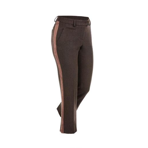 Seductive galonbroek 'Blended Wool', bruin De look van een klassieke broek van kostuumstof. Maar veel ongecompliceerder dan 'Blended Wool'.