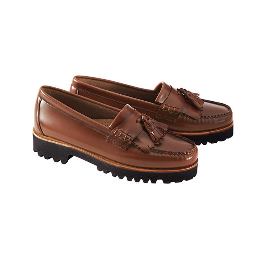 G. H. Bass loafers met kwastjes 'Weejuns' Loafers met kwastjes, de enige echte. De 'Weejuns' van G. H. Bass & Co uit Maine/USA.