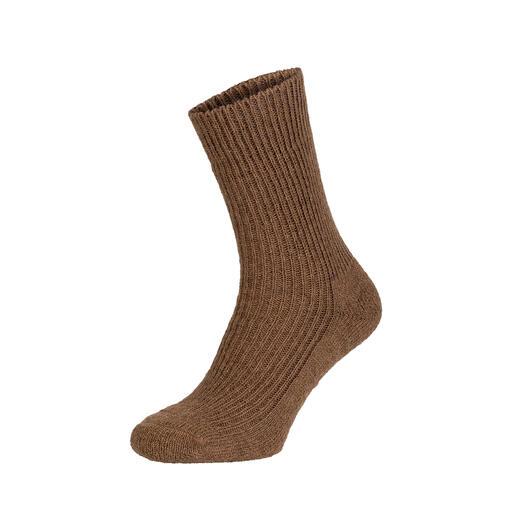 Kameelharen sokken De luxe van echte kameelharen sokken: zacht, soepel en uiterst robuust. En moeilijk te vinden.