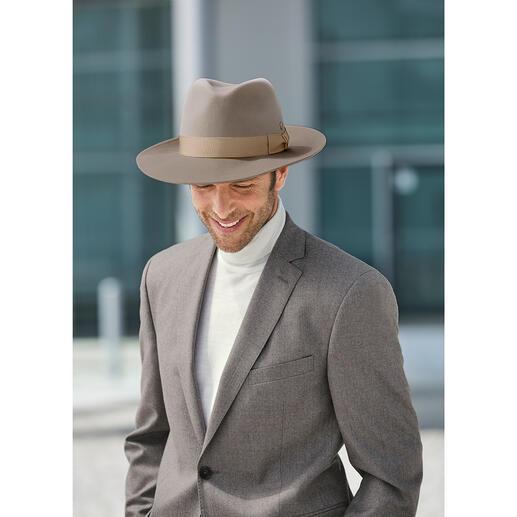 Mayser hoed van Escorial-wol Zelfs zachter dan kasjmier: hoed van Royal Escorial, de fijnste merinowol ter wereld.