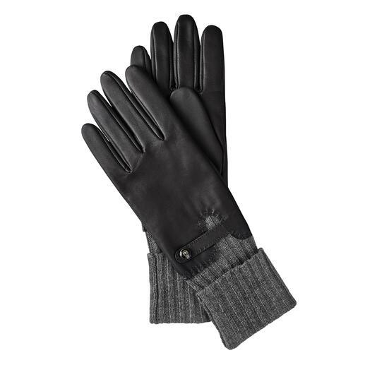 Roeckl handschoenen met manchet Consequente koudebescherming: chique leren handschoen met geïntegreerde manchet. Van Roeckl.