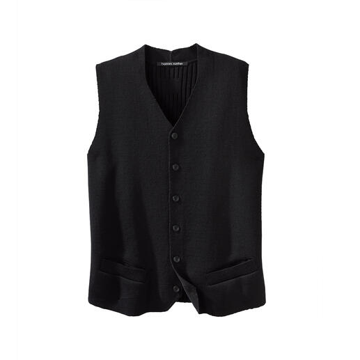 Hannes Roether gebreid vest Lang gezocht, eindelijk gevonden: maar zeer weinig vesten zijn tegelijkertijd zo elegant en comfortabel.