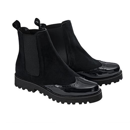 Casanova Chelsea-boots Bovendien ultralicht: Chelsea-boots van Casanova, Italië. Elegant genoeg voor bij een zwart broekpak.