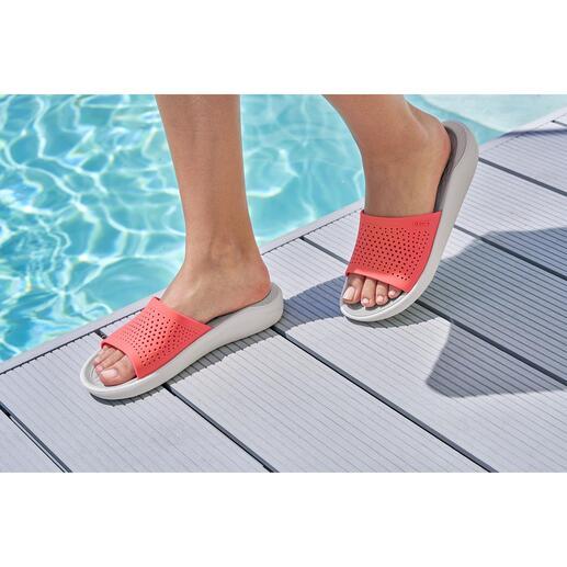 Crocs™ LiteRide™ badschoenen voor heren en dames De comfortabele Crocs™ zijn nu nog verder verbeterd. De nieuwe LiteRide™-collectie is 40% zachter, 25% lichter.