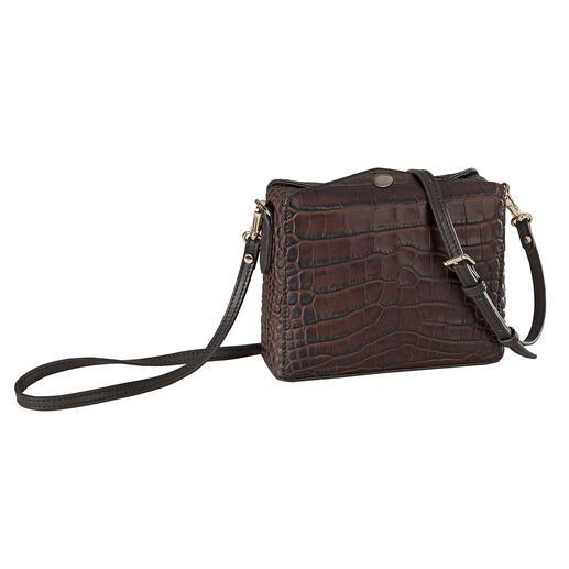 Pourchet Paris Boxy-Bag, kroko Trendmodel van nu gaat hand in hand met tassentraditie sinds 1903.
