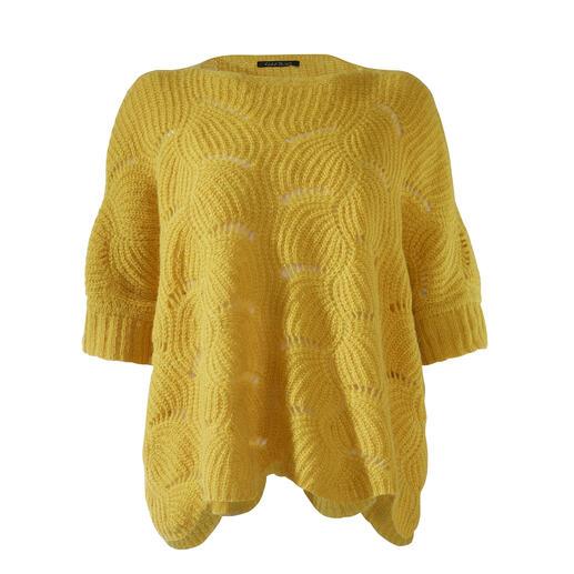 Kero Design trui in boxy-model Truientrend: kort en in boxy-model. Maar er zijn er maar weinig die tegelijkertijd zo elegant zijn.