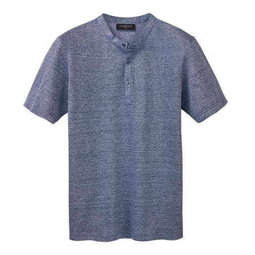 Junghans 1954 henleyshirt van piqué Aangenaam luchtig, chic glanzend, heerlijk comfortabel en toch heel exclusief.