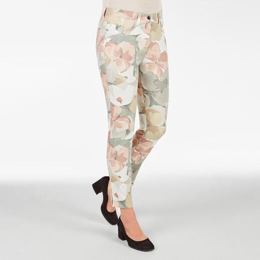 RAPHAELA-BY-BRAX toverbandbroek, Big Flowers Waarschijnlijk uw meest comfortabele broek: de toverbandbroek van RAPHAELA-BY-BRAX.