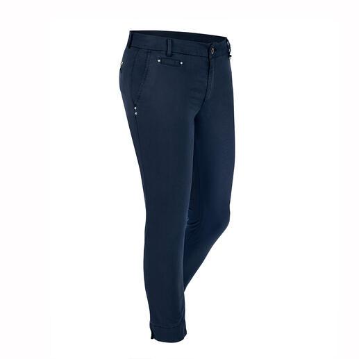 Mason's zomerse chino-broek Perfect afgestemd op het vrouwelijke figuur: elegante chino-broek van de Italiaanse pasvormspecialist Mason's.