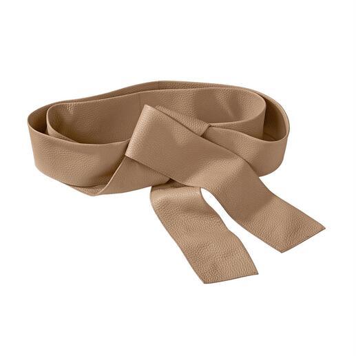 Belts doubleface-bindceintuur Luxueuze bindceintuur: stevig dubbel verwerkt en aan beide kanten even mooi. Van riemspecialist Belts.