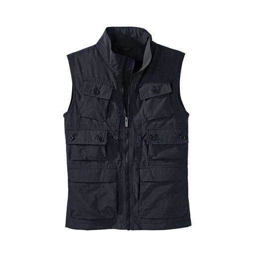 Vest met 10 zakken Met 10 handige zakken, beschermt tegen schadelijke UV-straling.