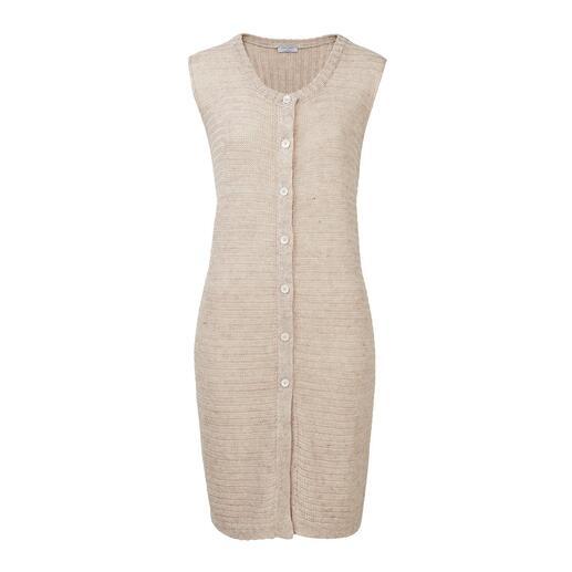 Gran Sasso gebreid mouwloos vest van linnen Gebreid van luchtig linnen: mouwloos vest in moderne boho-stijl. Van Gran Sasso.