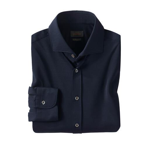 Edward Copper overhemd van piqué-jersey Lichte, frisse piqué-jersey – sneldrogend en strijkvrij. Van Edward Copper.