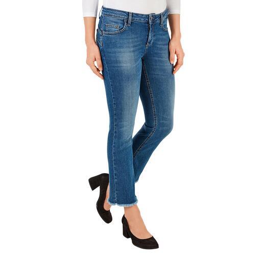 Liu Jo bottom up cropped-jeans 'Better Denim' Het beproefde Liu-Jo-lifteffect – voor het eerst gemaakt van ecologisch duurzaam denim.
