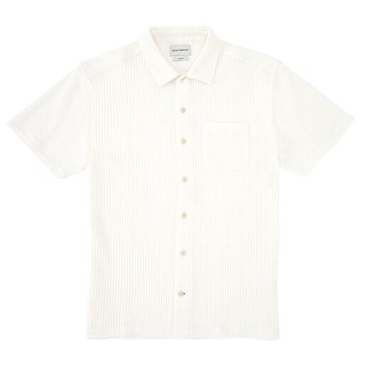 Oliver Spencer overhemd van wafelpiqué Verfrissend luchtig, aangenaam absorberend, ongelooflijk comfortabel en toch heel exclusief.