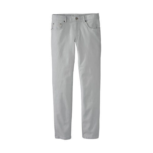 Five-pocketsbroek van wafelpiqué Zo heerlijk licht, zacht en verkoelend kan een five-pocketsbroek zijn.