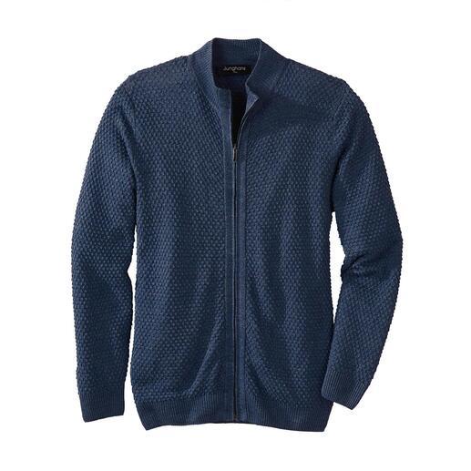 Junghans1954 vest van linnen en zijde Koel en droog dankzij linnen, heerlijk zacht dankzij zijde.