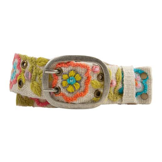 Smitten Peruaanse riem met borduursel Deze met de hand geborduurde riem uit Peru is een uniek exemplaar.