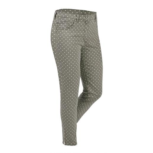 RAPHAELA-BY-BRAX  toverbandbroek stippen Waarschijnlijk uw meest comfortabele broek: de toverbandbroek van RAPHAELA-BY-BRAX.
