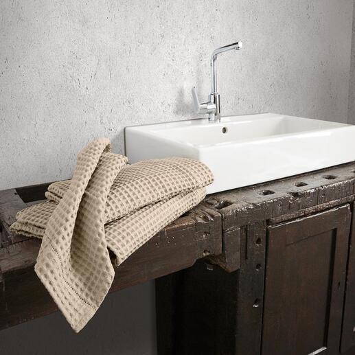Wafelpiqué-handdoeken, set à 2 stuks Wereldwijd moeilijk te vinden – in Italië een klassieker met traditie.