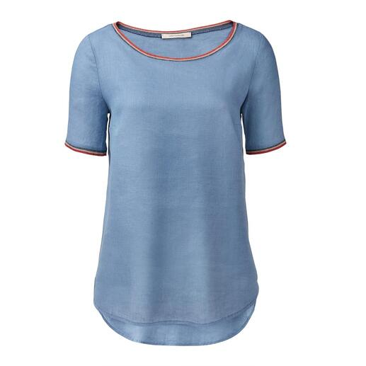 La Fée Maraboutée linnen shirt Luchtig en licht als een tuniek. Elegant als een blouse. Ongecompliceerd als een T-shirt.