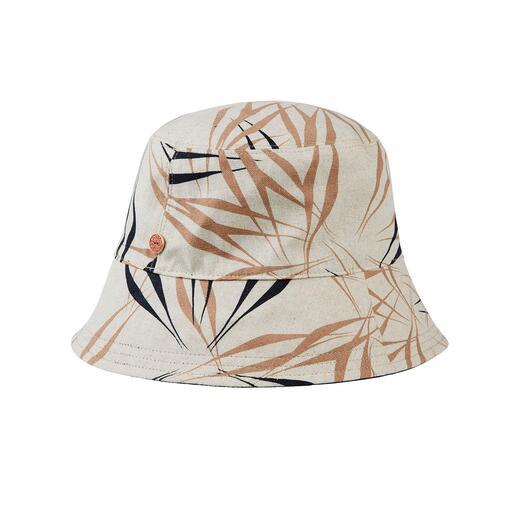 Mayser aan twee kanten te dragen bucket hat De bucket hat die aan twee kanten is te dragen. Van Mayser, de Duitse hoedenspecialist sinds 1800.
