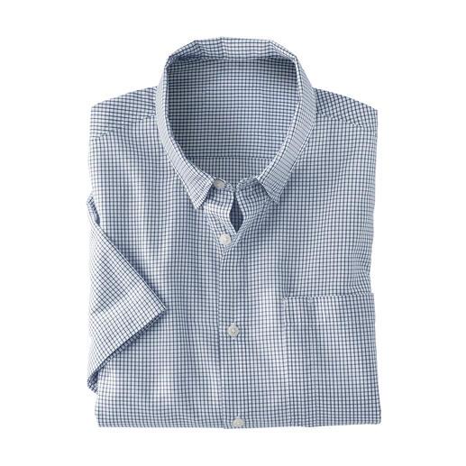 Geruit outdooroverhemd Klassiek model in smaakvolle kleuren en met kleine ruiten.