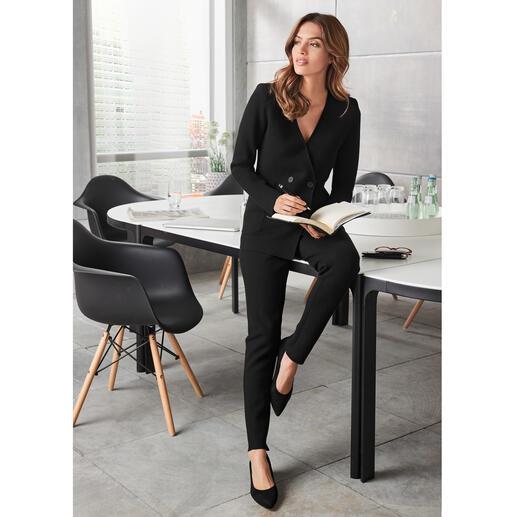 TWINSET broek of blazer in viscosebreisel Stijlvol als een geweven exemplaar, maar veel comfortabeler. Van TWINSET.